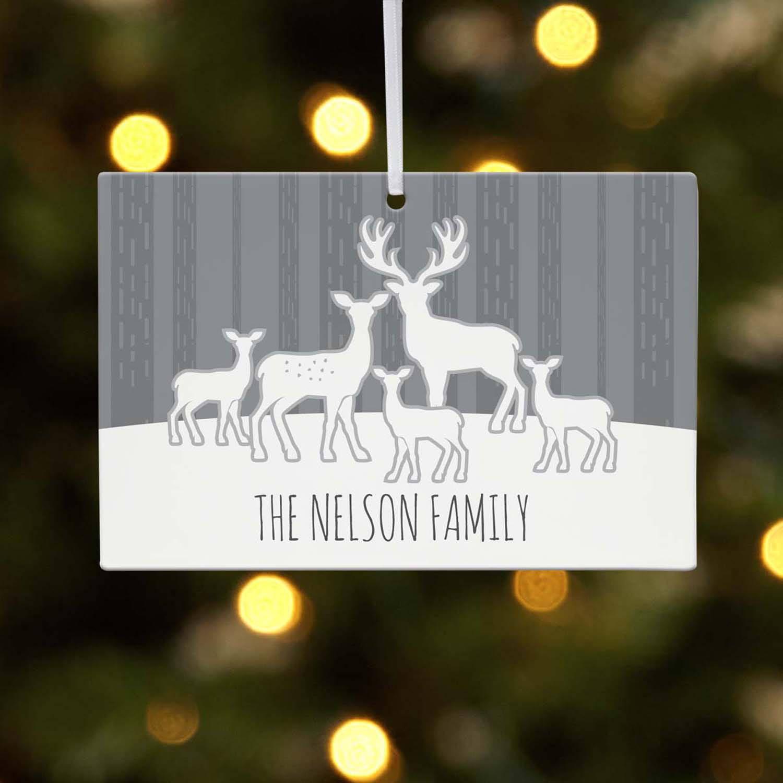 Personalized Deer Silhouette 1-4 Kids Christmas Ornament - Walmart.com