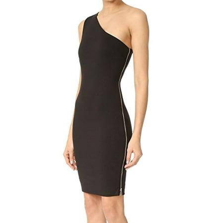 Zip Detail Sheath Dress - Ali & Jay NEW Black Women's Large L One Shoulder Side Zip Sheath Dress