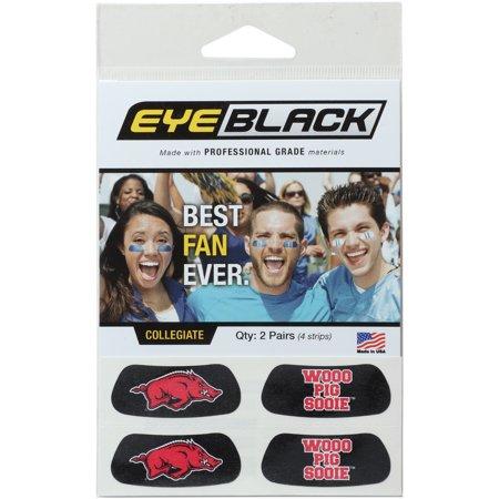 Arkansas Razorbacks 2-Pair Slogan Statement Eye Black Strips Set - No Size
