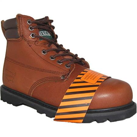 AMERICAN SHOE FACTORY Steel Toe Leather Work Boot, Men, Size, (Best American Football Boots)