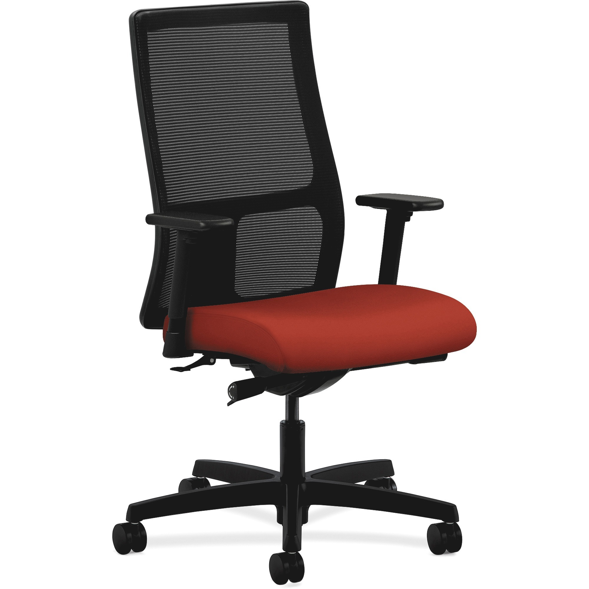HON, HONIW103CU42, Ignition Mid-Back Task Chair, Arms, 1 Each, Black,Poppy