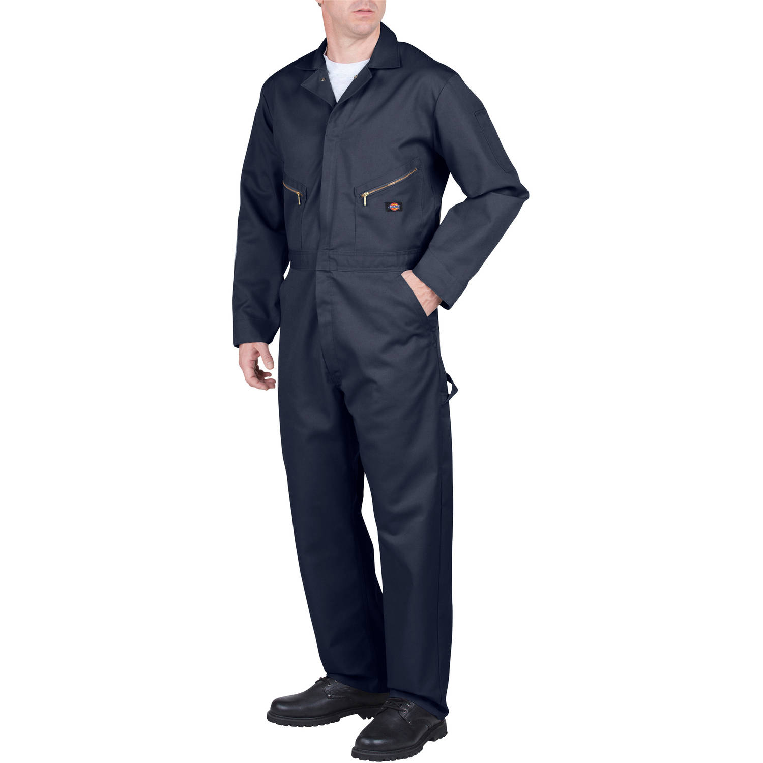 dickies men s long sleeve deluxe blended twill coverall walmart com