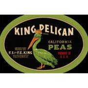 Buy Enlarge 0-587-24646-4P12x18 King Pelican California Peas- Paper Size P12x18