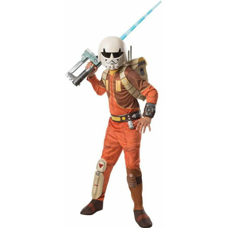Star Wars Rebels Deluxe Ezra Boys' Child Halloween Costume - Halloween Wars Cakes Food Network