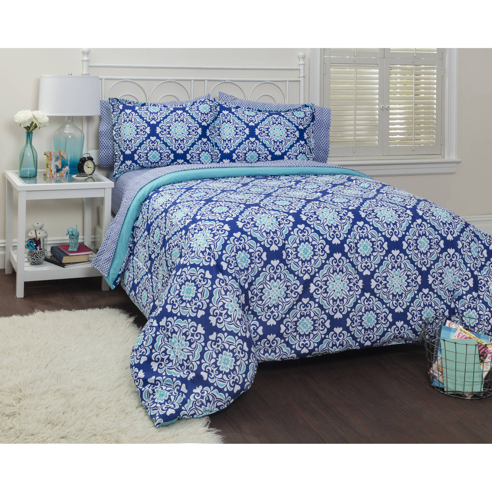 your zone jenna bed-in-a-bag bedding set