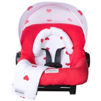 Carseat Canopy (No Car seat Included) 5 pc Whole Caboodle Baby Car seat Cover set Jersey Stretch - Ruby