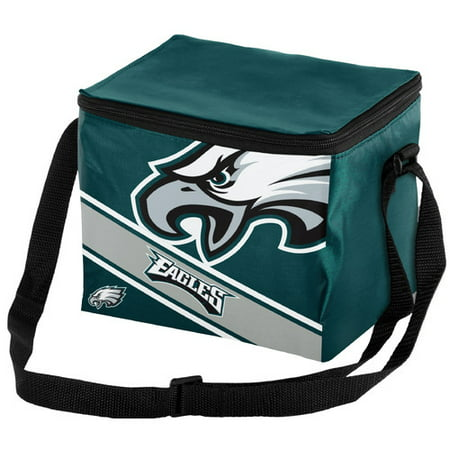 Forever Collectibles Big Logo Stripe 6 Pack Cooler, Philadelphia Eagles