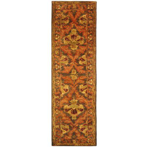 Charlton Home Dunbar Hand-Tufted Wool Sage/Gold Area Rug