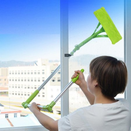 Telescopic Foldable Handle Cleaning Glass Sponge Mop Cleaner Window Extendable ()