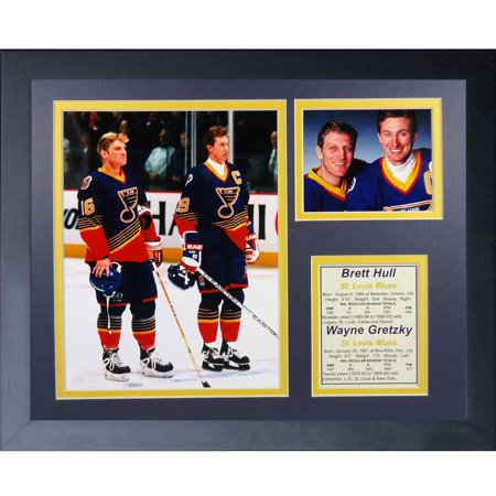 Legends Never Die Wayne Gretzky   Brett Hull Collage Photo Frame  11  X 14