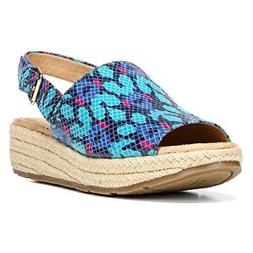 Naturalizer Womens Praline Fabric Open Toe Casual Platform Sandals by Naturalizer
