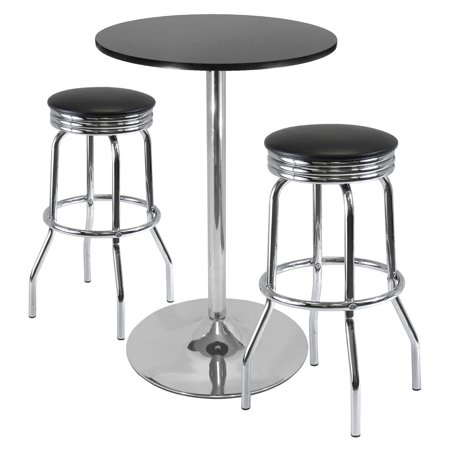 Pleasing Summit 3 Pc Pub Table Set 28 Table And 2 Stools Onthecornerstone Fun Painted Chair Ideas Images Onthecornerstoneorg