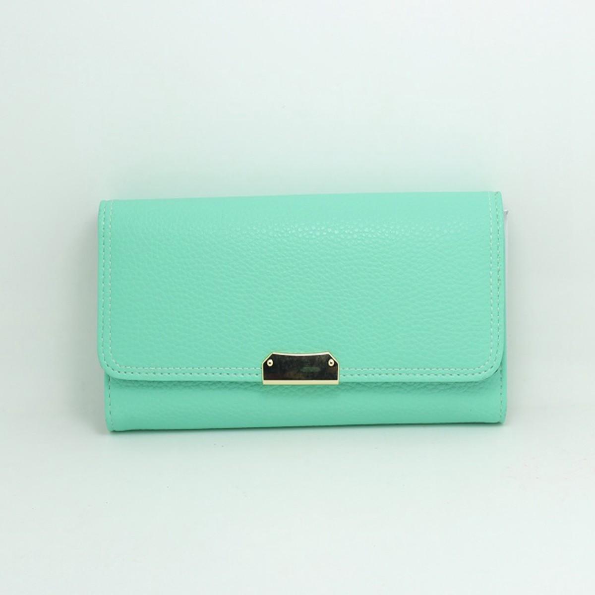 Women Zipper Long Wallet Button Cash Card Holder Leather Clutch Handbag Purse