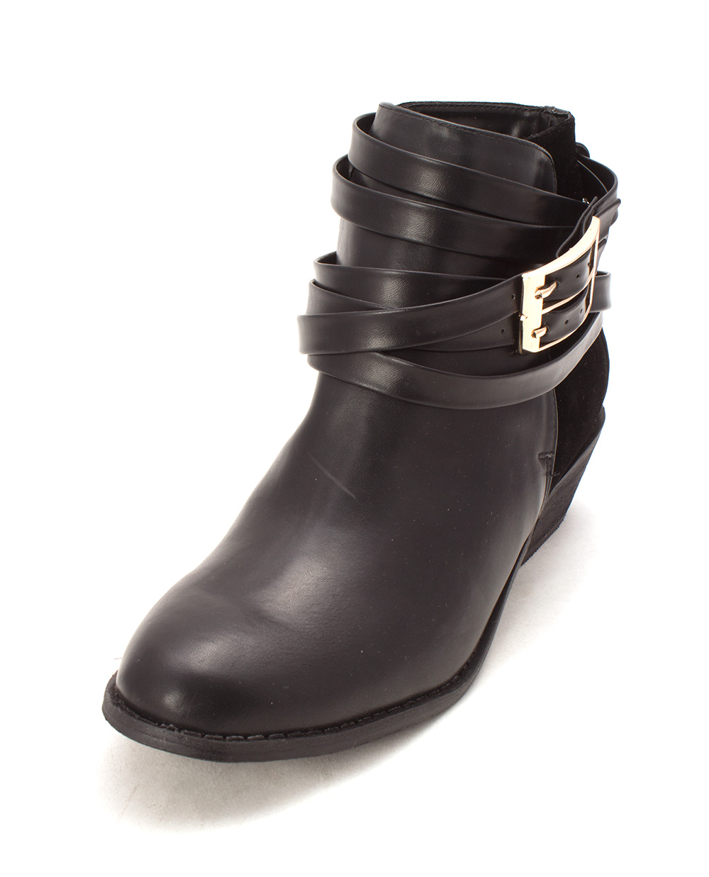 ShoeDazzle Womens Arlenis Almond Toe Ankle Fashion Boots, Black, Size 9.0
