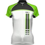 Primal Wear Frequency EVO Women's Cycling Jersey: Green/Black/White, LG