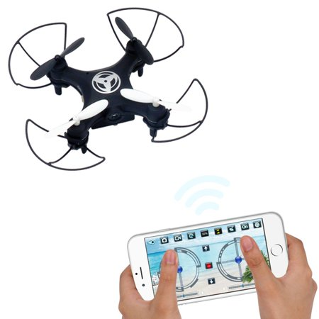 Dwi Dowellin Pocket Drone with camera Mobile Phone Control for iOS_ Android APP Wifi RC Hover Rotate Altitude Hold Mini RTF Quad