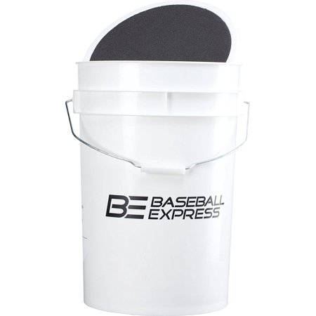 Baseball Express Empty Ball Bucket with Padded Lid, Keep your practice balls away from moisture damage in this 6-gallon bucket. By Team Express Gear from