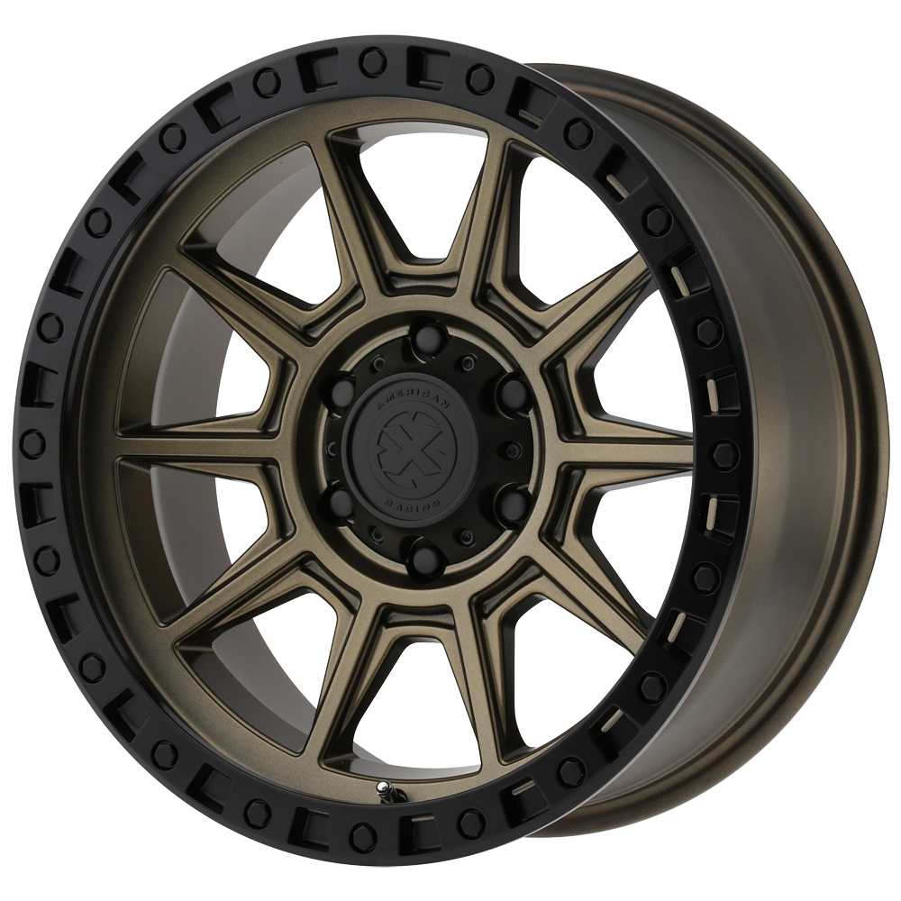 "16"" Inch 16x8 ATX Series AX202 8x165.1(8x6.5"") +0mm Bronze/Black Wheel Rim"