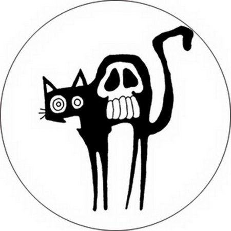 Spider Monkey Scaredy Cat Button B-1211