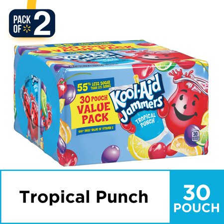 Punch Drink For Halloween ((2 pack) Kool-Aid Jammers Tropical Punch Flavored Drink 30-6 fl. oz.)