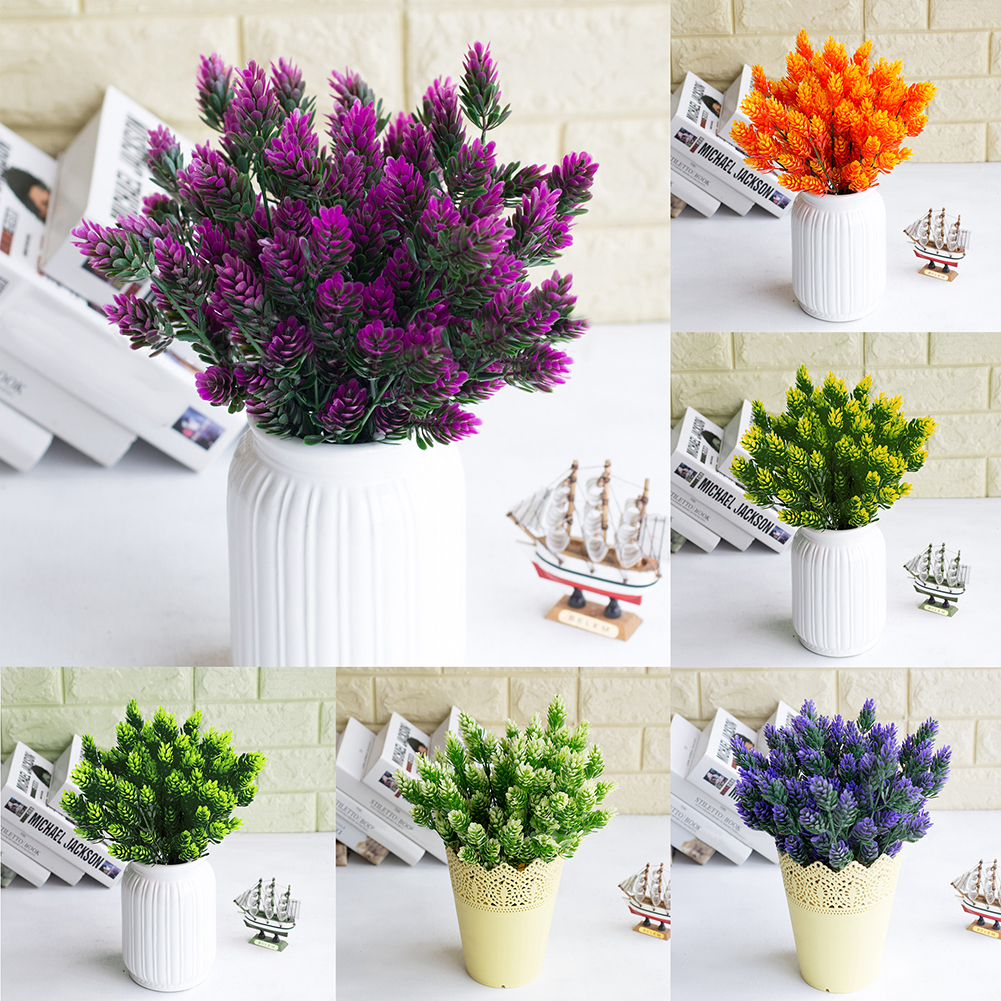 HiCoup 1 Bouquet Artificial Cypress Leaf Grass Plant Room Office Home Garden Decor