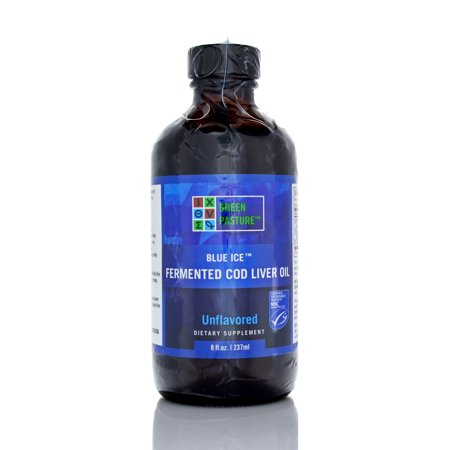 Blue Ice Fermented Cod Liver Oil Liquid, Unflavored, 8 Fl