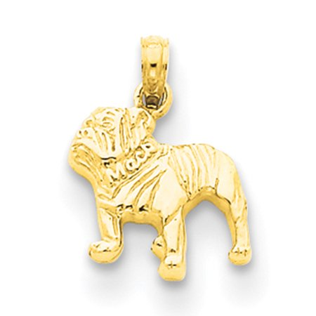 14K Yellow Gold Bulldog Pendant K3426