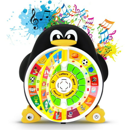 Boxiki kids Penguin Power ABC Learning Educational Toy By Learning Game Center Boosts Core Pre-Kindergarten Subject Comprehension - ABCs, Words, Spelling, Shapes,