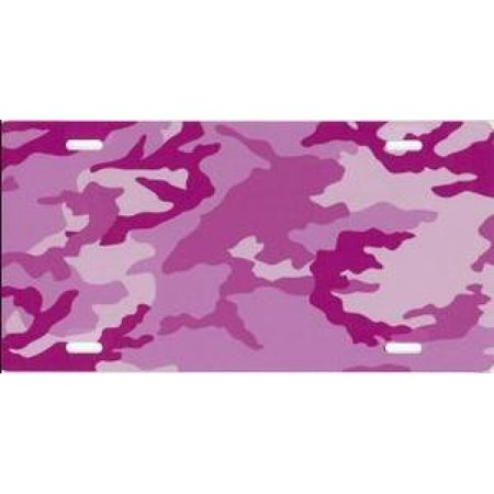 Pink Camo Airbrush License Plate Free Names on this Air Brush - image 2 of 2