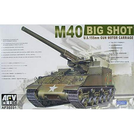 AFV35031 1:35 AFV Club M40 M-40 Big Shot US 155mm Gun Motor Carriage #35031 [MODEL BUILDING KIT]