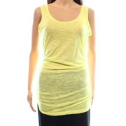 Caslon NEW Green Lime Women's Size Medium M Tank Cami Solid Gathered Top