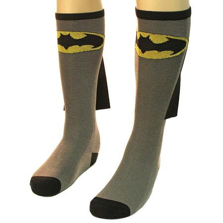 Batman Tights (Bioworld Batman Adult Knee High Cape Sock, One)