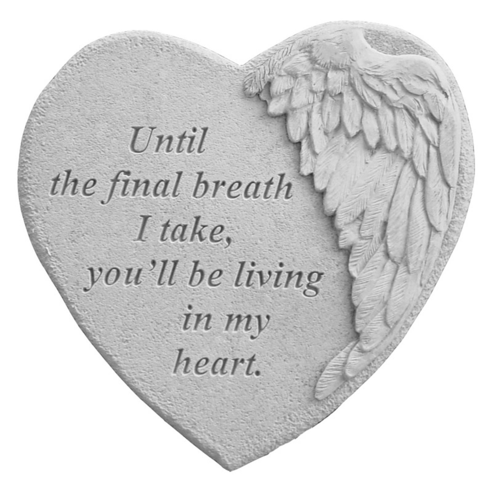 Until The Final Breath I Take Winged Heart Memorial Stone