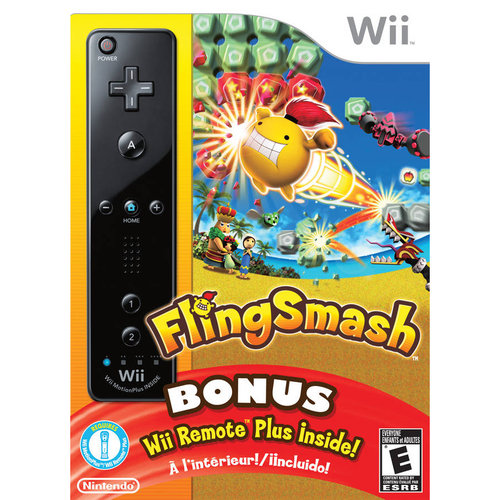 FlingSmash with Wii Remote Plus - Black
