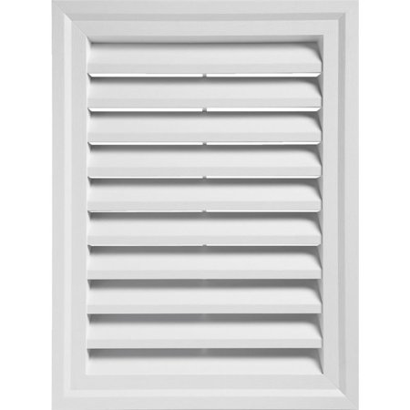 White Round Gable Vent (24