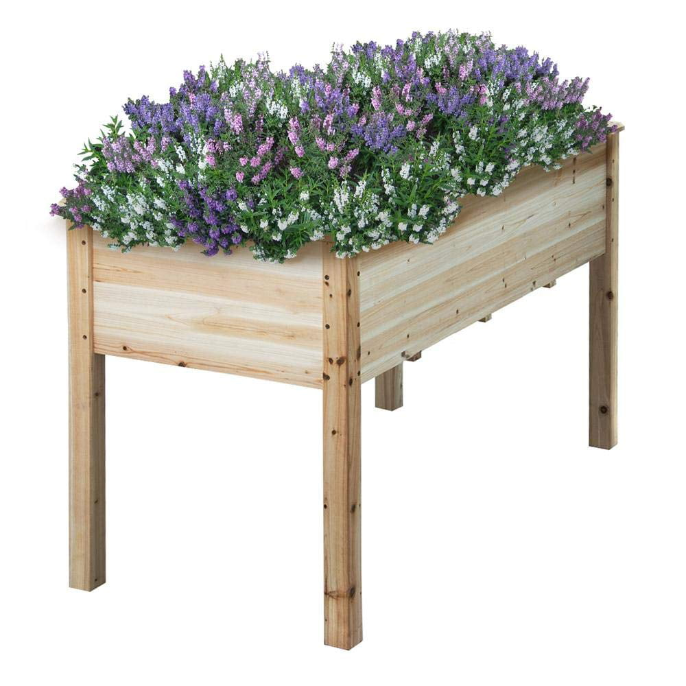 Wooden Raised/Elevated Garden Bed Planter Box Kit For