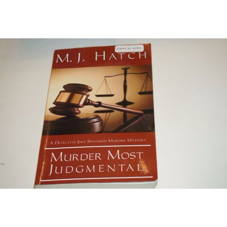 Rare Signed Murder Most Judgmental By M J  Hatch Paperback Book