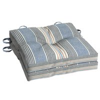 Better Homes & Gardens Hickory Stripe 15 x 15 in. Outdoor Bistro Cushion with EnviroGuard, Set of 2