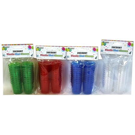 Plastic Shot Glasses - 80 pc for $<!---->