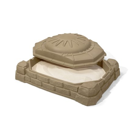 Step2 Naturally Playful 4' Rectangular Sandbox With Cover Sandstone - Ladybug Sandbox