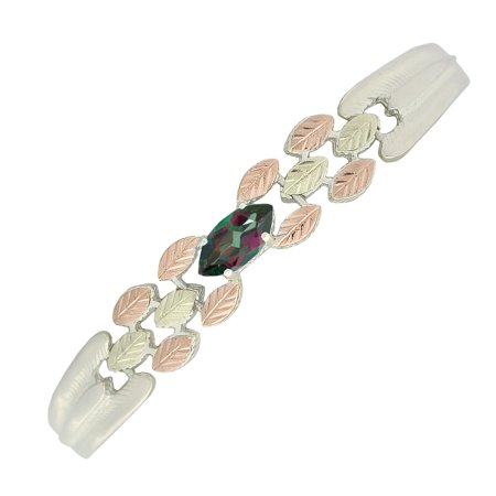 Black Hills Silver Mystic Fire Topaz Bracelet with 12k Gold Accents