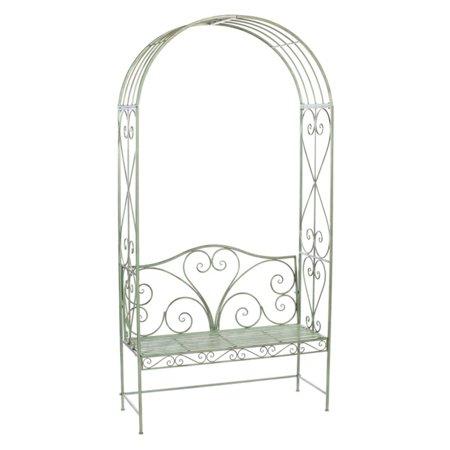 Melrose Savoy Metal Garden Bench with Arch ()