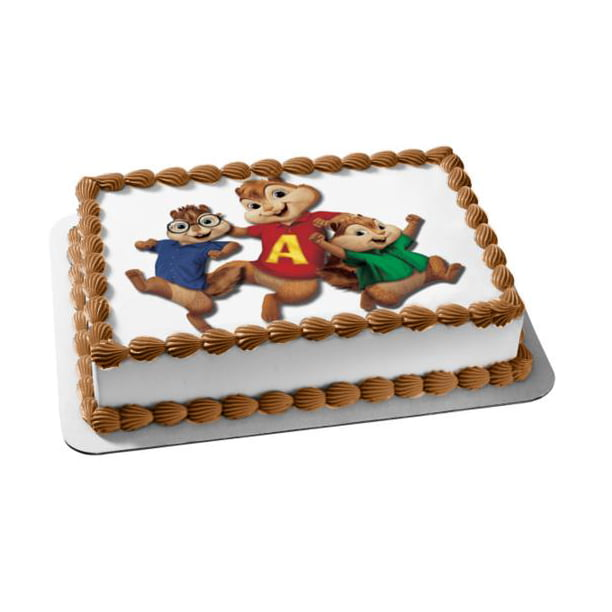 Excellent Alvin And The Chipmunks Simon Theodore Edible Cake Topper Image Funny Birthday Cards Online Sheoxdamsfinfo