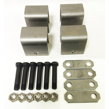 Triple Axle Hanger - Trailer Leaf Spring Hanger Kit for Double Eye Springs Single Axle Suspension