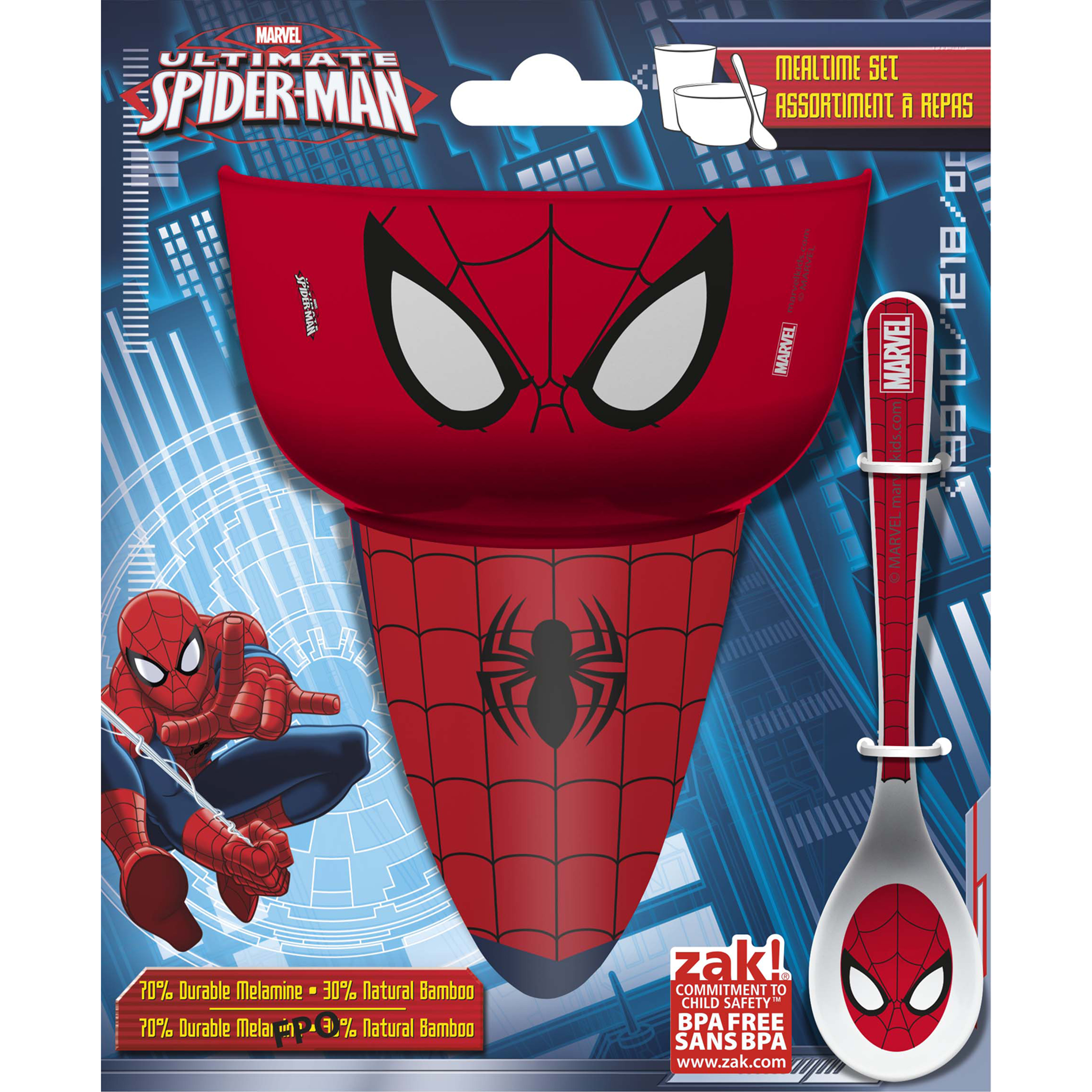 Spiderman 3-piece Breakfast Set by Zak! SDNI-0490
