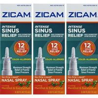 3 Pack - Zicam Intense Sinus Relief Liquid Nasal Gel 0.50oz Each