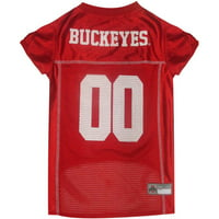 Pets First College Ohio State Buckeyes Collegiate Dog Jersey, Available in Various Sizes