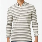 Tommy Hilfiger NEW Gray Mens Size XS Striped Heathered Polo Shirt