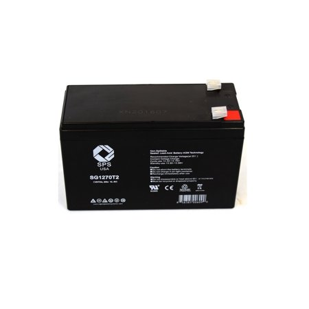 SPS Brand 12V 7 Ah Replacement Battery  for Best Technologies Patriot II Pro 750 UPS (1