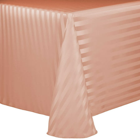 Ultimate Textile Satin-Stripe 52 x 70-Inch Oval